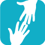 icon for student wellness show to hands touching
